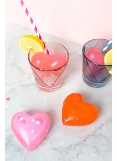 Arma House 20 Adet Kalp Şeklinde Renkli Buz Küpleri Renkli